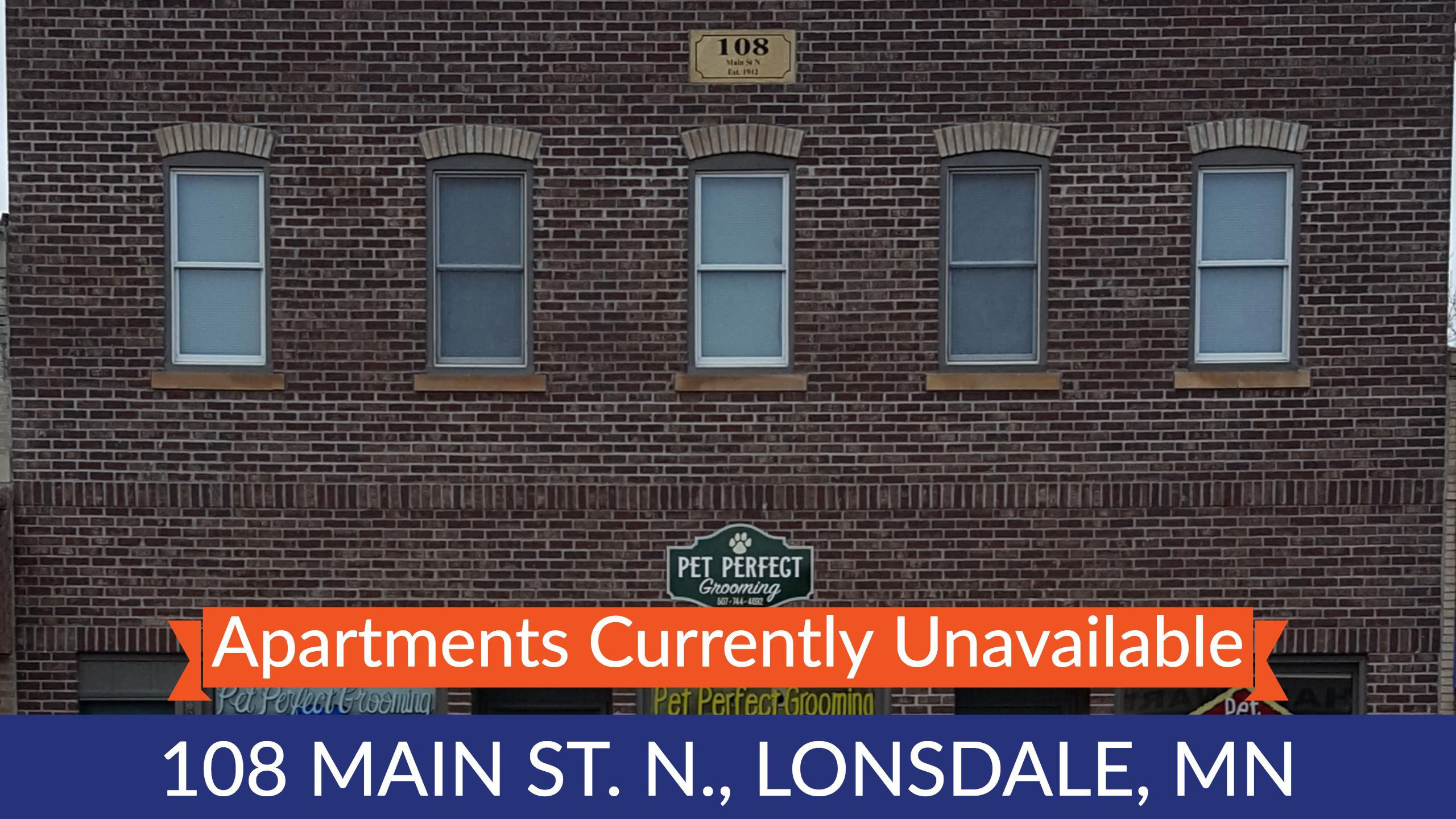108 Apartments Unavailable